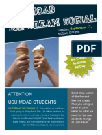 Ice Cream Social at USU MOAB