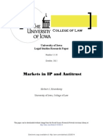 SSRN-Id2028314-Hovenkamp-Markets in IP and Antitrust