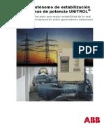 Equipo autónomo de estabilización de sistemas de potencia