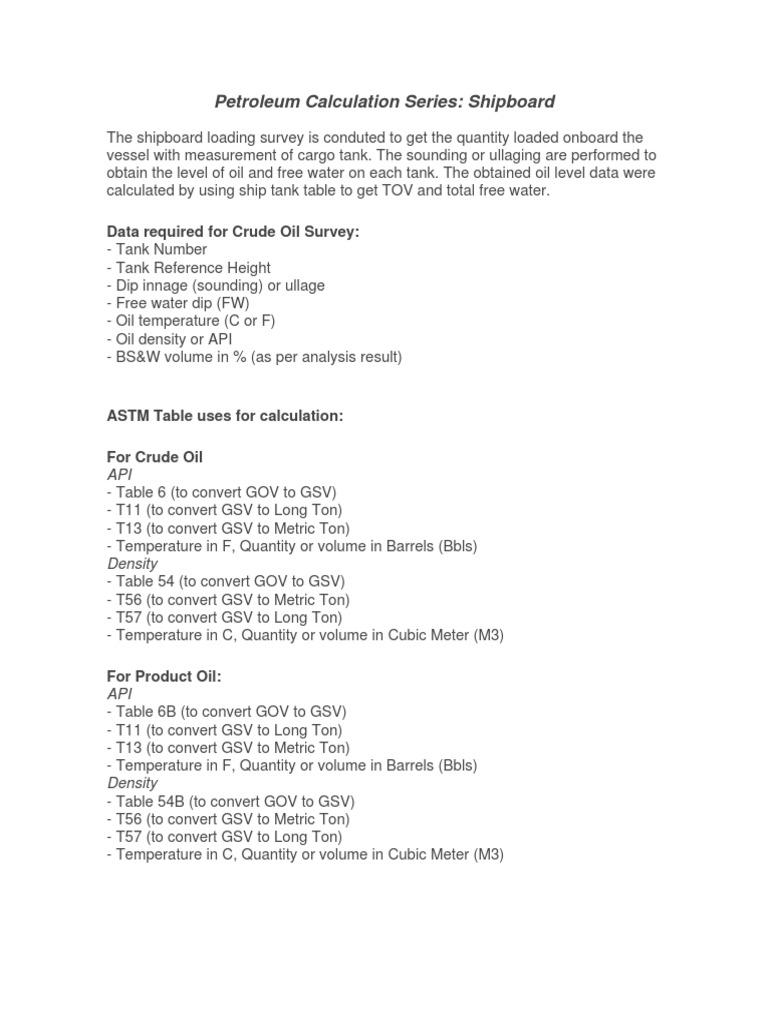 Petroleum Calculation Series | Barrel (Unit) | Ton