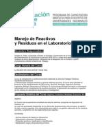 00_Manejo de Reactivos y Residuos en El Laboratorio