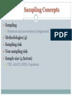 Audit Sampling Concepts