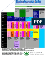 Chelsea Recreation Summer 2009 Schedule