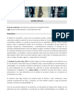 SeminarioEnClave2013 Segunda Circular