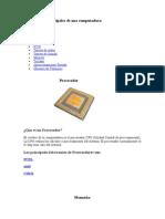 Componentes Principales de Una Computadora
