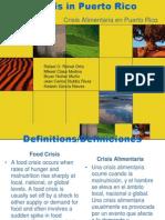 Crisis Alimentaria en Puerto Rico Proyecto de Rafael
