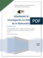 SEMINARIO B  ( Investigación en Didáctica de la Matemática)_ Trabajo Final