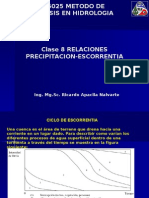 Clase  8_Relación Precipitación-Escorrentía