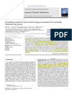 A Modeling Method of Task-Oriented Energy Consumption for Machining Manufacturing System