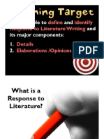 Introduction to Response to Lit