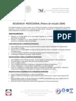 Proceso Para La Residencia Profesional Planes de Estudio 2004