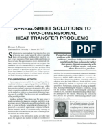 Spreadsheet Solutions to Two-Dimensional Heat Transfer Problems - Heat Equation Cf. RS Warmth Course - Example of Constant Boundary Temperature of a Thin Metal Plate - Besser