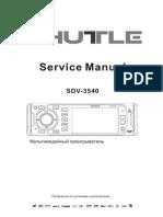 Service Manual Sdv-3540 9188t