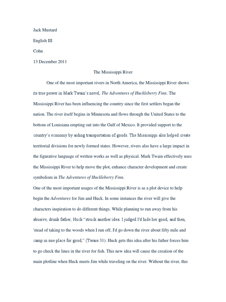Expository Essay Thesis Statement  Thesis Statement For Education Essay also Mental Health Essay Huck Finn Essay  Huckleberry Finn  Adventures Of Huckleberry Finn Thesis Statement Analytical Essay
