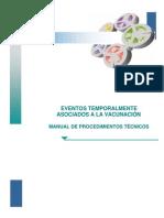 Manual Eventos Asociados Temporalmente a la Vacunación ETAVs