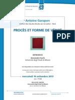 2013.09.18 Milano - Procès et forme de vérité