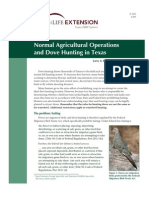 Normal Agricultural Operations and Dove Hunting in Texas