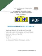 ENTREVISTAS a MAESTROS.. Obsrvacion y Practica 3 Manuel .. Gaby