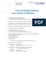 Shipping Procedure and Measuring Guide