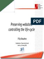 BOUDREZ - Preserving Websites Controlling the Life