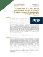 Figueroa 2013 - Composición de la dieta del oso andino en nueve áreas naturales protegidas del Perú