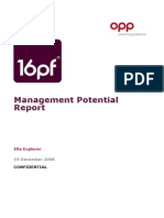 16PF Management Potential Report - UK English - Ella Explorer