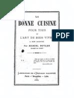 Marcel Butler - La Bonne Cuisine Pour Tous