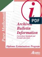 Puremath30 06 07bull Archive PDF