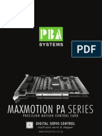 MaxMotion PA Series Precision Motion Control Card