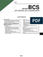 SISTEMA DE CONTROL DE LA CARROCERÍA (MANUAL NISSAN)