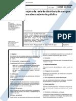Nbr 12218 - Projeto de Rede de Distribuicao de Agua Para Abastecimento Publico