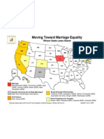 Map of States' Status on Marriage Equality