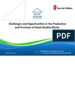 Challenges and Opportunities in the Production and Purchase of Good Quality Blocks