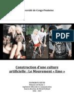 'une culture artificielle - le mouvement emo