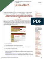 LITERATURA NO AMAPÁ_ COMO REGISTRAR OBRAS LITERÁRIAS E LETRAS DE MÚSICAS NO ESCRITÓRIO DE DIREITOS AUTORAIS