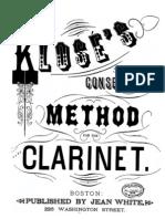 Klose - Clarinet Method