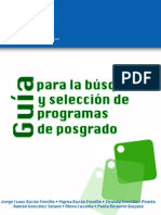 Ricaurte Guía para la búsqueda y selección de programas de posgrado