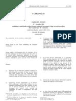 European Union (EU) Veterinary Health Form 998
