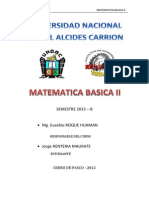 Trabajo de Matematica Basica II