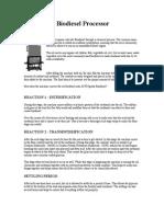 Automated Biodiesel Processor