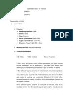 HISTORIA CLÍNICA DE CIRUGÍA