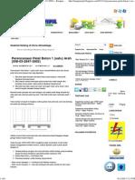 Perencanaan Pelat Beton 1 (Satu) Arah (SNI-03-2847-2002)