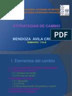ESTRATEGIAS DE CAMBIO . Actividad 2. Módulo 4. Bloque 2. Mendoza, A. Cristina