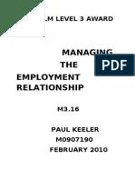 ILM M3.16 Employment Relationship