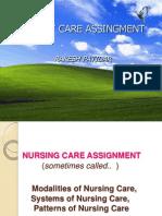 Methods of Nursing Assignment