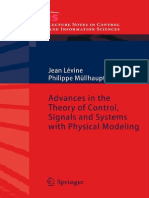 Advances in the Theory of Control Signals and Systems With Physical Modeling Lecture Notes in Control and Information Sciences 407