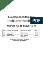 Anuncio Examen departamental