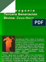 La teogonía. Tercera Generación Divina