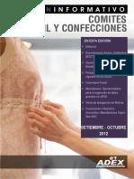 ADEX DATA TRADE Boletín  Textil y Confecciones - Setiembre Octubre