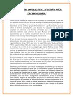 Ensayo Importancia de La Cromatografia.